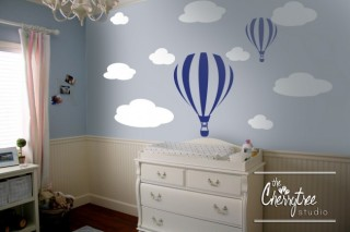 Baby Life Online Shop - My Wishlist... Boys Hot Air Balloon Wall Art Set