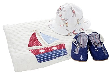 Baby Life Online Shop - My Wishlist... Myang Hand-crafted Navy Anchor Keyhole Shoes, Pirate Hat & Boats Blanket  anchors nautical