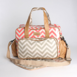 Baby Life Online Shop - My Wishlist... Thandana Nappy bags coral and grey chevron