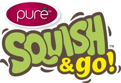 {Product Review} Squish Fruit Snacks - Helping Me With My Picky Toddler Squish and Go Logo