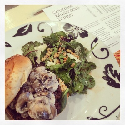 DailyDish Recipe: Day 1 - Gourmet Mushroom Burger