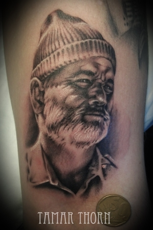 {Interview} Tattoo Artist Tamar Thorn Talks To Us About Her Past Life, Tattoos And A Beautiful Future. No Egos, No Bullshit, Just Passion. Bill Murray Portrait Tattoo