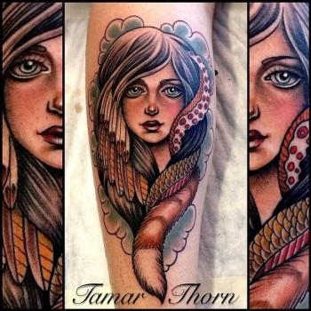 {Interview} Tattoo Artist Tamar Thorn Talks To Us About Her Past Life, Tattoos And A Beautiful Future. No Egos, No Bullshit, Just Passion. sarsar illustration tattoo