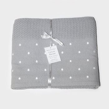 Babalove - Online Shop For Baby And Mom  White Spot Cellular Blanket