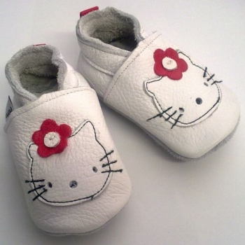 Babalove - Online Shop For Baby And Mom Leather Baby Shoes - Hello Kitty