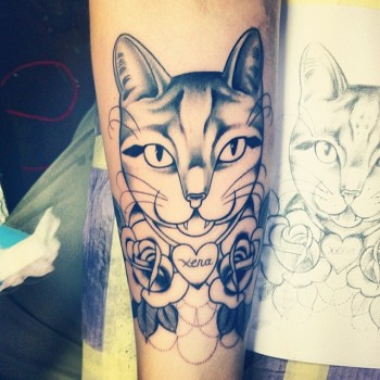 Shaun Dean Emerald Fox Tattoo Caffeine and Fairydust Cat Tattoo Outlines