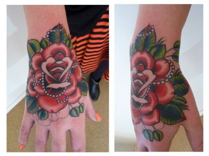 Shaun Dean Emerald Fox Tattoo Caffeine and Fairydust Hand Tattoo Rose Victorian