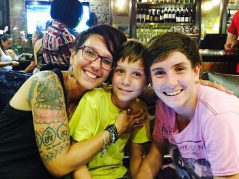 Catherine Grenfell Interview - Caffeine and Fairydust - Mom With Tattoos catherine grenfell and her kids