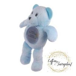 Caffeine and Fairydust 4AKid Review Bottle Buddy blue teddy bear