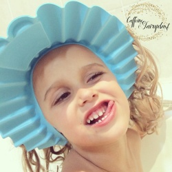 Caffeine and Fairydust 4AKid Review Shampoo Cap no tears funny face
