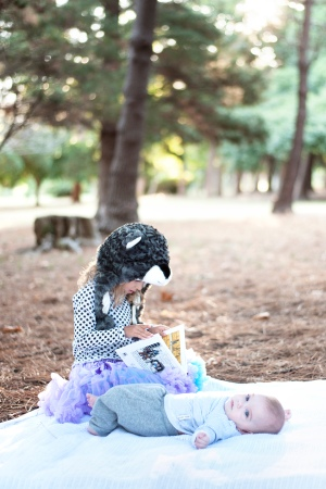 Caffeine and Fairydust Our Family Photoshoot With Lauren Pretorius Photography Whimsical woodlands picnic in the forest Animal Hat Reading Story