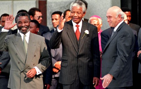 nelson mandela with Thabo Mbeki and F.W. de Klerk South Africa Is Breaking My Heart, I Cry For My Beloved Country - White Privilidge Racism Rhodes Must Fall Xenophobia