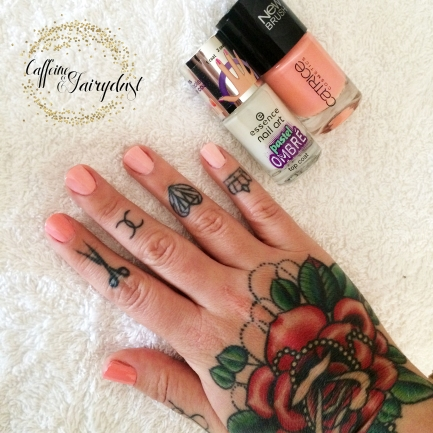 coral Ombre Nail Tutorial nail art end result catrice essence
